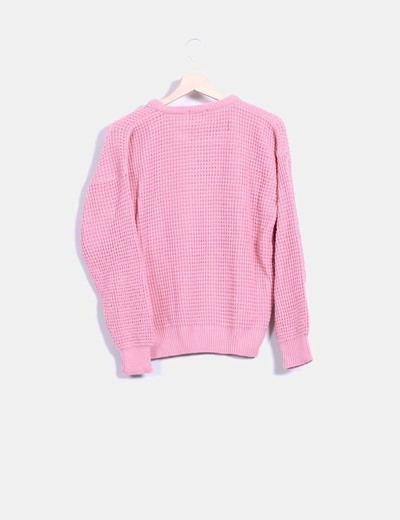 Jersey tricot rosa
