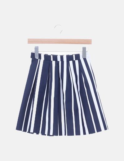 Falda rayas navy