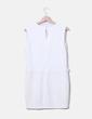 Vestido blanco combinado Mango
