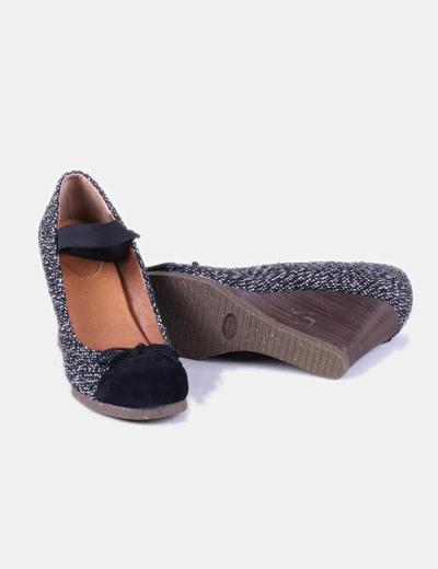 Zapato con cuna texturizado bicolor