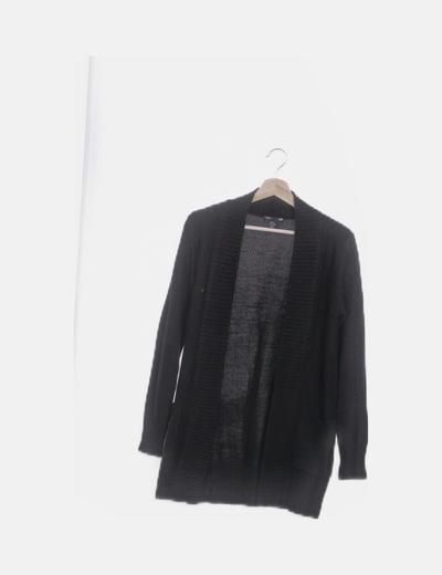 Cárdigan tricot negro