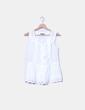Blusa blanca con encaje Massimo Dutti