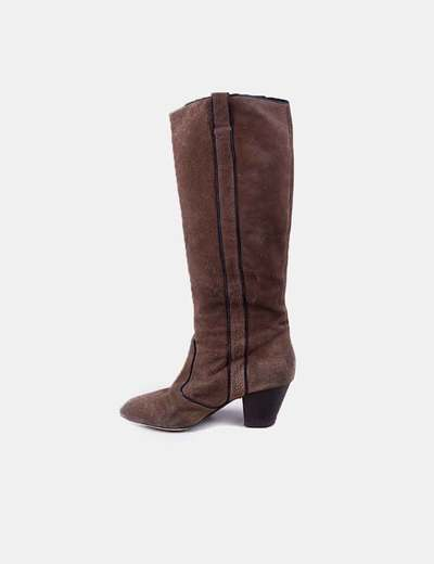 Brown suede boots ASH