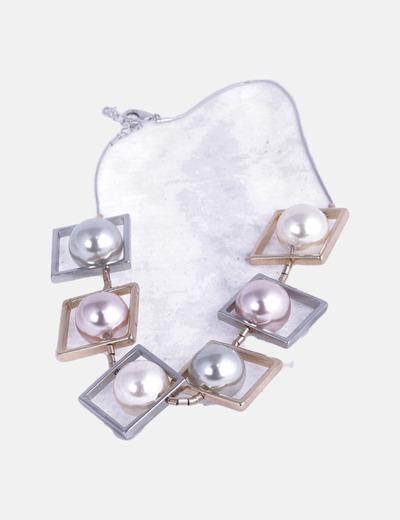 Collar combinado con perlas