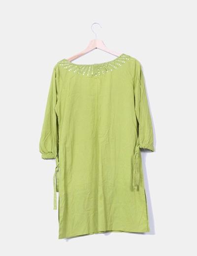 Vestido verde con lentejuelas