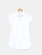 Camisa blanca manga corta drapeada Stradivarius