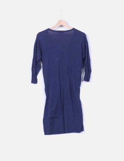 Vestido de punto azul amrino