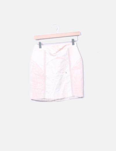 Mini falda rosa palo entallada H&M