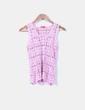 Top crochet rosa sin mangas Non Sense