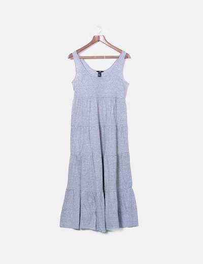 Maxi vestido gris H&M