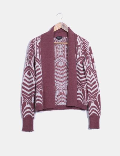 Cárdigan tricot bicolor Topshop