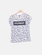 Camiseta blanca animal print Stradivarius