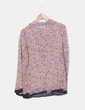 Blusa multicolor de seda Zara