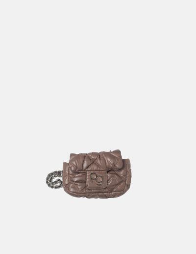 Mini bolso acolchado marrón Purificación García