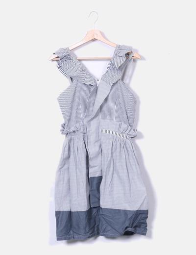 Raasta Grau Weiß Gestreiftes Kleid Kombiniert Rabatt 80 Micolet