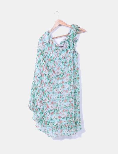 Vestido floreado asimétrico  Zara