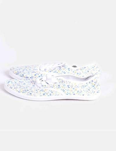Chaussures de sport plat imprimé floral Suiteblanco