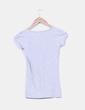 Camiseta gris escote pico Pull&Bear