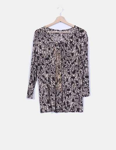 Blusa estampada con tachas Elena Miró