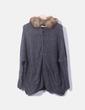 Jersey oversize de punto gris con capucha Pimkie