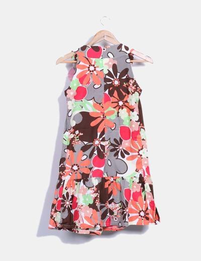 Vestido multicolor detalle lateral