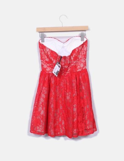 Elise Ryan Vestido de alças de renda vermelha (desconto de 78%) - Micolet beaeb7940da82