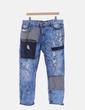 Pantalón denim combinado pitillo print Desigual