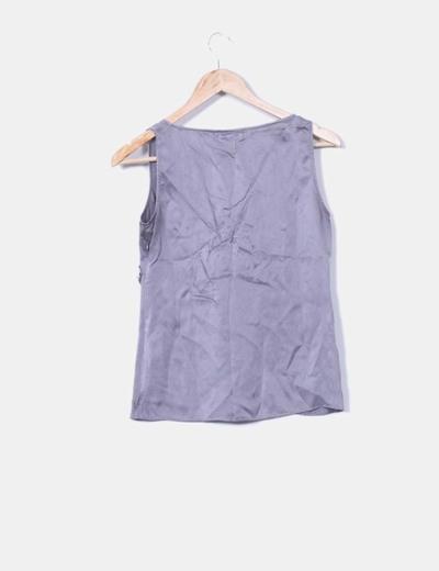 Camisa gris de seda