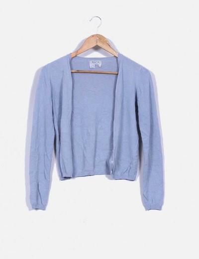 Cardigan azul grisaceao Zara