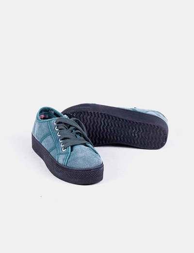 Zapatillas verdes con plataforma