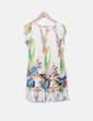 Vestido seda estampado multicolor BDBA