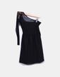 Vestido midi negro combinado con encaje Zara