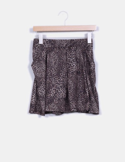 Mini falda estampado animal print Pull&Bear