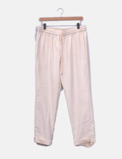 Pantalón baggy rosa palo