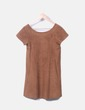 Vestido antelina marrón Pull&Bear