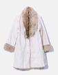 Abrigo beige combinado con pelo Venca