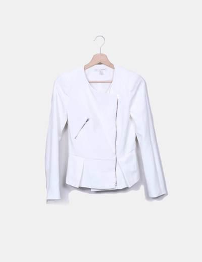 regarder outlet à vendre classique Veste blanche zippée