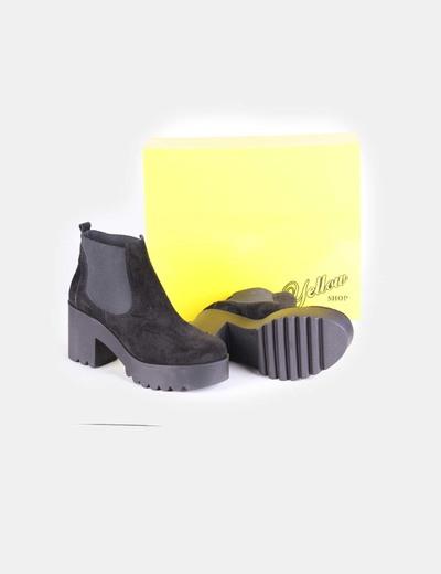 Plataformas Botines Con Negros Yellow descuento Elástico Y Serraje Rwf6qTO