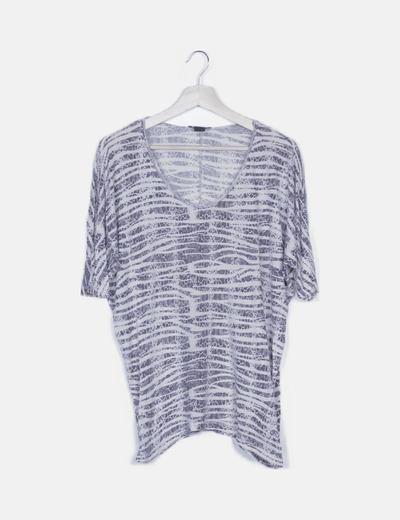 Camiseta estampado bicolor