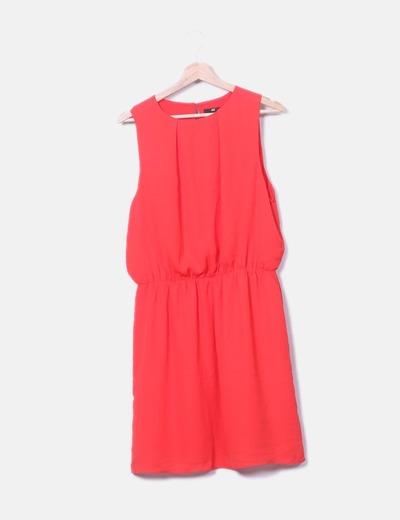 Robe rouge sans manches H&M