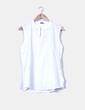 Camisa blanca sin mangas Tex Woman