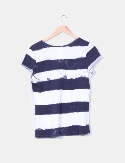 Camisa manga corta efecto destenido