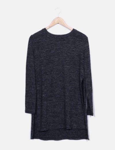 Vestido gris jaspeado Pull&Bear