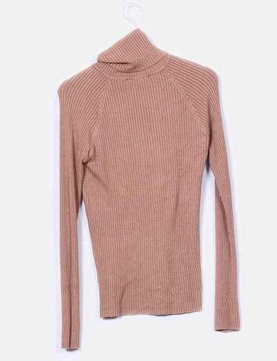 8df649e0b0da Zara Jersey canalé cuello cisne (descuento 81 %) - Micolet