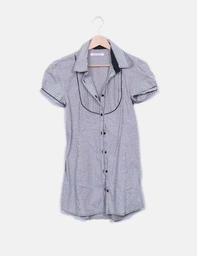 Blusa larga  rayas negras