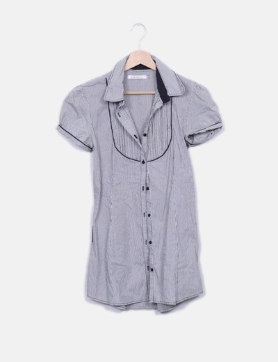 Blusa larga  rayas negras Bershka