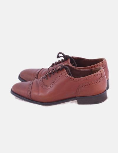 Zapatos blucher cuero marrón
