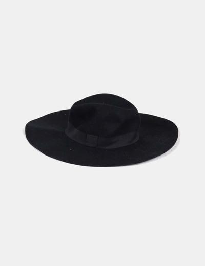 Sombrero negro ala ancha NoName