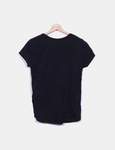 Camiseta negra lentejuelas sandia
