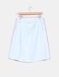 Falda de lino azul H&M